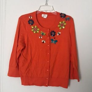 Kate Spade beaded butterfly cardigan